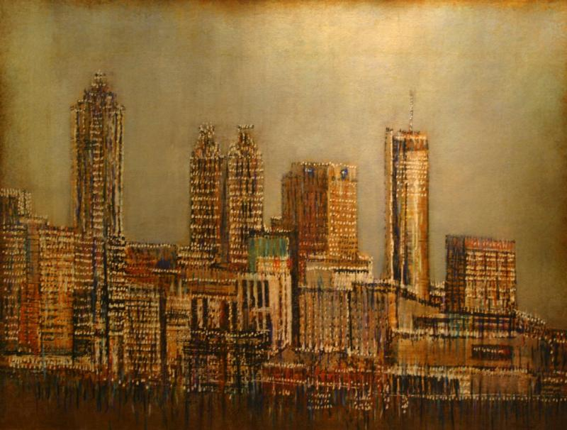 Quot Chicago Skyline Quot Originals Semi Abstract