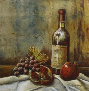 Still Life with Fruit & Wine