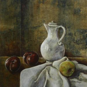 Still Life with Fruit & Pitcher